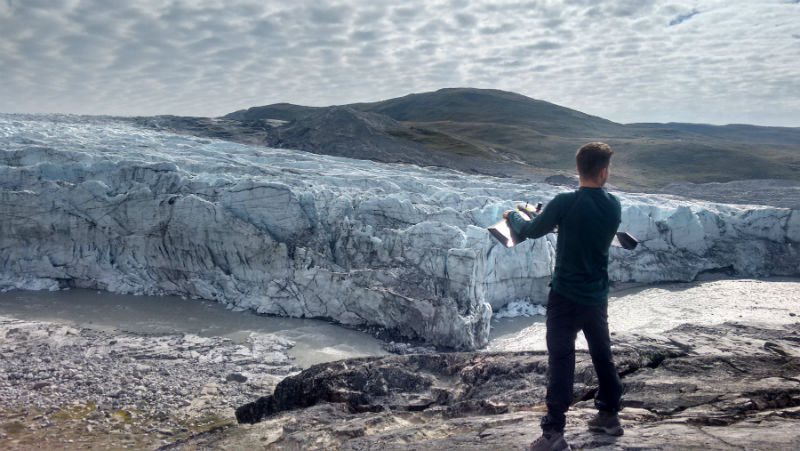 PhD-research-with-fixed-wing-drone-in-Greenland