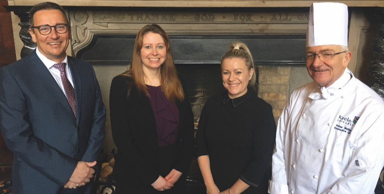 From L–R: Adrian Lowe, general manager, Kathryn Cannell, head of events delivery, Emma Woodcock, head of event and business development and Peter Walters, executive chef