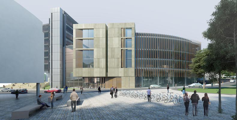 The James McCune Smith Learning Hub was designed by HLM Architects and will enter operation in the autumn
