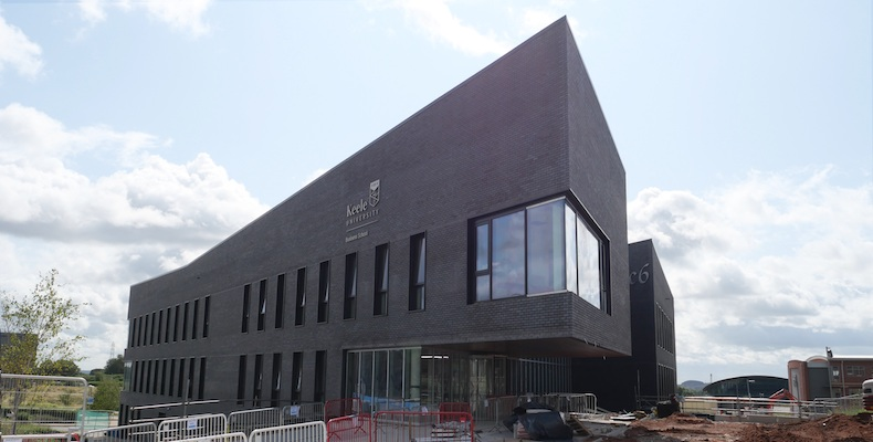 Keele Business School is a new landmark facility with a financial markets trading floor to simulate working in a stock exchange
