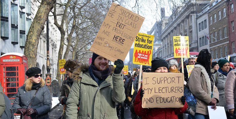 UCU warned of pension strikes if universities did not agree to cover the cost of increased contributions Credit: Julian Stallabrass, Flickr