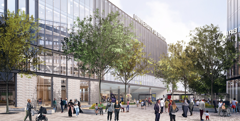 The new buildings – which will form the Temple Quarter Enterprise Zone – will house the university's new school of management