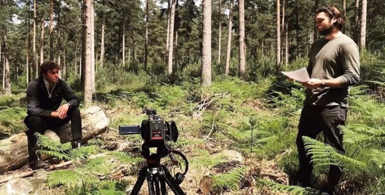 Shaun-Slaymaker-left-Founder-of-Rising-Forests-and-representatives-from-Grizzly-Films-which-has-partnered-with-Rising-Forests-to-offset-their